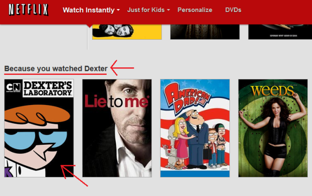 Netflix because you watched